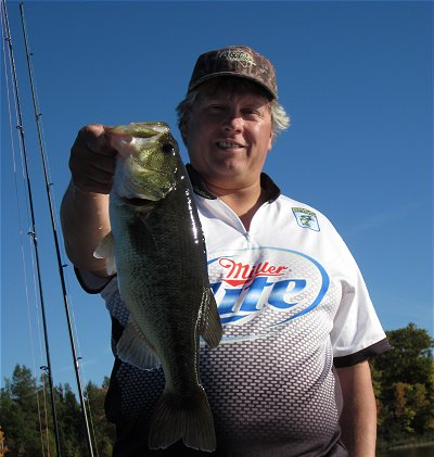 UAC Bassmaster Doug Pirila with Miller Lite jersey.  Thanks Miller Lite for your support.