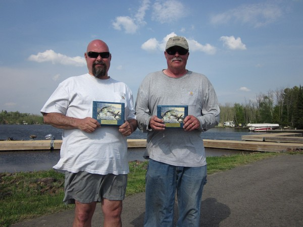 May 2012 Duluth Bass Club winners - Lake Vermilion - Joe Bonelli & Mike Hogstrom